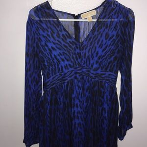 Michael kors royal blue cheetah dress
